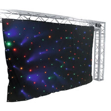 More details for eurolite starcloth curtain 3m x 2m rgba led star cloth backdrop theatre stage dm