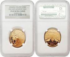 Poland 2004MW Fine Arts Academy Cent. 200 Zlotych Gold NGC PF69 ULTRA CAMEO