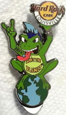 """Hard Rock Cafe LOUISVILLE 2014 ROCK FROG w/MOHAWK PIN """"Save The Planet"""" #78379"""