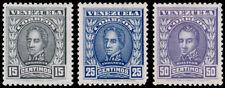 Venezuela Scott 255A-255C (1913) Mint H VF Complete Set