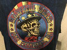 GRATEFUL DEAD San Francisco CA Sleeveless T-Shirt MEDIUM Black & Blue Tie-Dye