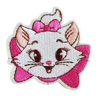 Marie Aristocats Face Iron On Patch Sew on Embroidered transfer small cute Face