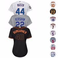MLB Majestic Players Official Cool Base Team Home Away Alt Jersey Women's