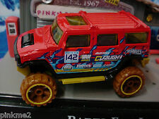 2013 JUNGLE RALLY Design Ex HUMMER H2☆Red w/Vaughn; 142☆New LOOSE☆Hot Wheels