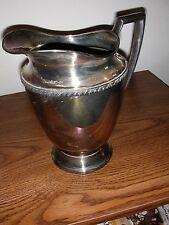"""Wm Rogers Antique Silver Water Pitcher """"AVON  3617"""""""