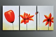 Huge Abstract oil painting floral original hand painted Framed Ready To Hung