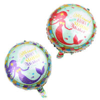 2pcs Lovely Mermaid Balloons Birthday Party Decor Wedding Xmas Gift Kids Toy NTH