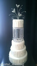 Tall Crystal tear drop design Cake Separators & matching wedding cake stand