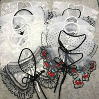 Embroidered Lace Collar Applique Sew on Trim Clothing  Dress Top Badge Decor DIY
