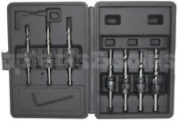 22pc Countersink Drill Bit Set Adjustable Depth Stop Collars Woodworking w/ Case
