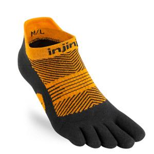 Injinji Womens RUN Lightweight No-Show Running Toe Socks (Tiger)