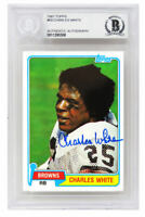 Charles White Signed Browns 1981 Topps Rookie RC Card #69 - Beckett