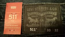 LEVI'S 511 Men's Slim Fit Low Rise Zip Fly Stretch Jeans Supernova  33 x 32 NWT