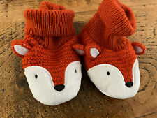 Baby Boy Girl Unisex 0-3 months Knitted Fox Booties VGC Combine Postage