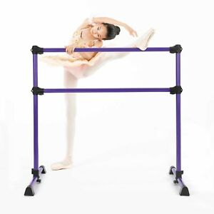 Portable Freestanding Dance Ballet Barre Exercise Double Stretch Gymnastics Bar