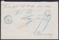 Thurn And Taxis Postvorschuß Letter With K1 Detmold - Blomberg, Old Germany