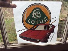 Lotus Esprit período 1978 transferencia original rara y fresco.