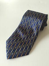 Fendi Blue Yello Tie For Men Made In Italy 100% Silk What Design