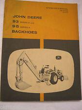 John Deere 93 95 Series A Backhoes Om-U44762 G8 Operator'S Manual
