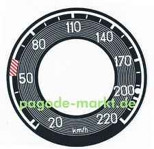 W113 Mercedes Pagode Aufkleber Tacho Tachometer 230 250 280 SL