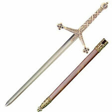 MEDIEVAL CLAYMORE  LETTER OPENER SWORD & SCABBARD - STEEL - BRAND NEW F-3047