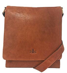 50% Off Rowallan Tan Leather Shoulder Bag, Messenger Bag
