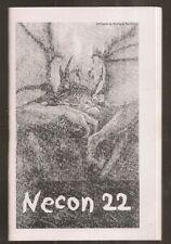 NECON 22 program booklet. Douglas Clegg, Christopher Golden, Graham Joyce