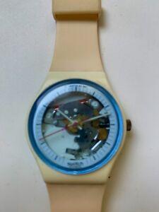 Vintage  SWATCH GW110 White Knight 1988  Swiss Watch plus BONUS