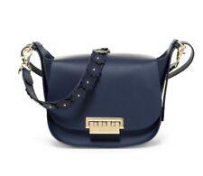 Zac Zac Posen Eartha Iconic W/ Floral Applique Crossbody Leather Saddle Bag $475