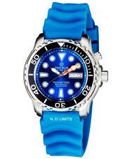 Deep Blue PROTAC 1000m Automatic Diver watch Seiko movt. 45mm Blk bez Blue dial