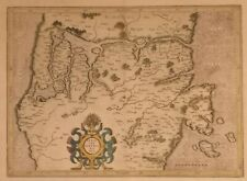 ANTIQUE MAP OF SOUTH DENMARK, c1635
