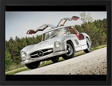 BEAUTIFUL OLD MERCEDES 300SL NEW A3 FRAMED PHOTOGRAPHIC PRINT POSTER