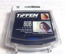 TIFFEN 62mm 80B 80-B 80 B Blue Glass Lens Filter 62 mm 6280B Color Conversion