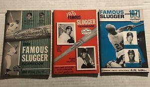 1969 1970 1971 Famous Slugger Lot of 3 CLEMENTE Rose MUNSON Yastrzemski AARON