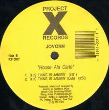 JOVONN - House Ala Carte - Project X Records - PX10017 - Usa 1992
