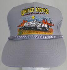 UNITED METRO MATERIALS TRUCKER STYLE BASEBALL CAP  B3