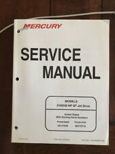 1999 MERCURY MODELS 210/240 HP M2 JET DRIVE ORIGINAL FACTORY SERVICE MANUAL
