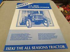 1980s ? ISEKI TS4010 Tractor New Zealand  Sales Leaflet