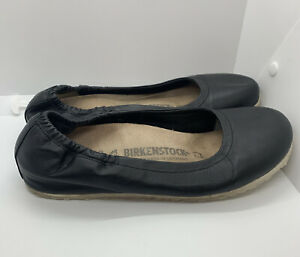 BIRKENSTOCK Celina Ballet Flats black patent leather 39 L8 M6 $119 Very Nice!!