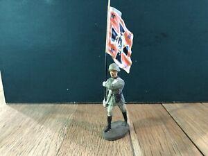Elastolin: German Flag Bearer. Tin Flag. 70mm Scale. Pre War c1930s.
