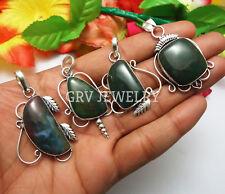 Bloodstone Gemstone 1pcs Pendant 925 Silver Overlay SP-07