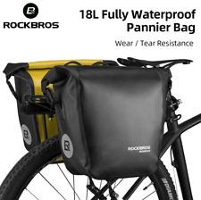 UK RockBros Cycling 18L Waterproof Bicycle Bag Portable Rear Pannier Bag 2 Color