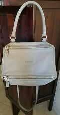 $1790 GIVENCHY 'Pandora' Small Grey Sugar Goat Leather Shoulder Bag