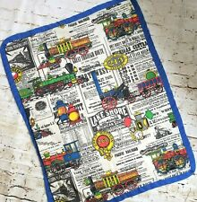 Vintage Pillow Sham Cover Case Trains Railroad Railway Handmade Standard Size