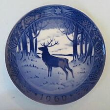 Royal Copenhagen Christmas plate, 1960, The Stag