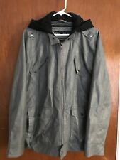UR Urban Republic - L - Men's Dark Grey Faux Leather Moto Jacket - Size Large