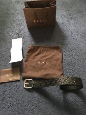 Gucci Guccissima Belt Men's Size 100 40 Black Leather 100% Authentic