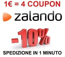 4 COUPON DEL 10% SCONTO ZALANDO CODICE IMMEDIATO BUONO VOUCHER