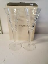 More details for pair of  jasper conran aura champagne flutes by stuart crystal..boxed