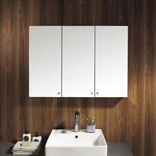 bn stainless steel wall mounted bathroom storage cabinet mirror triple door